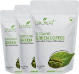 Flipkart : Neuherbs Organic Green Coffee Beans for Weight Loss Instant Coffee 400 g  (Pack of 3) at Rs.693