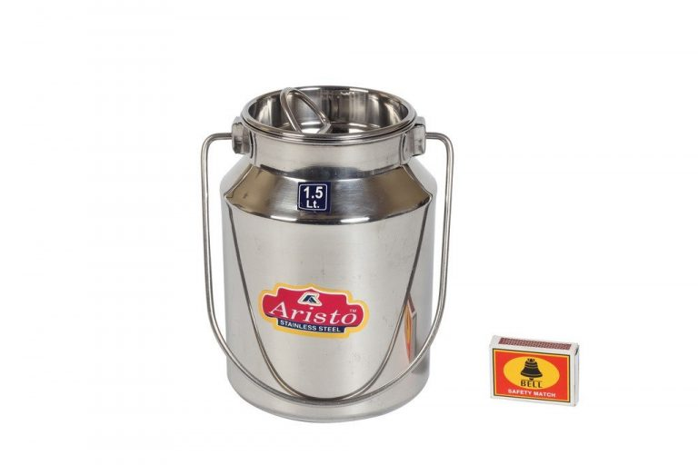 Amazon India : Aristo Stainless Steel Milk / Oil / Ghee Storage Container, 1.5 Litre, Silver at Rs.396