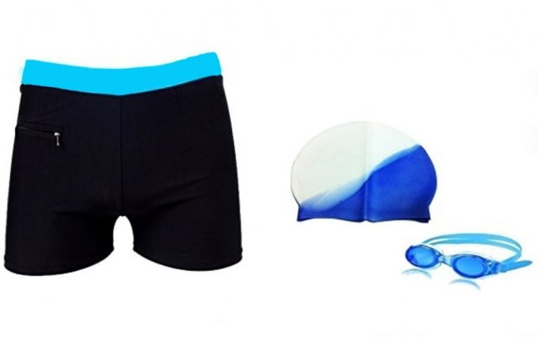 Amazon India : AURION Sport Mens's Swim Wear Swimming Set Combo (Assorted colors) at Rs.365