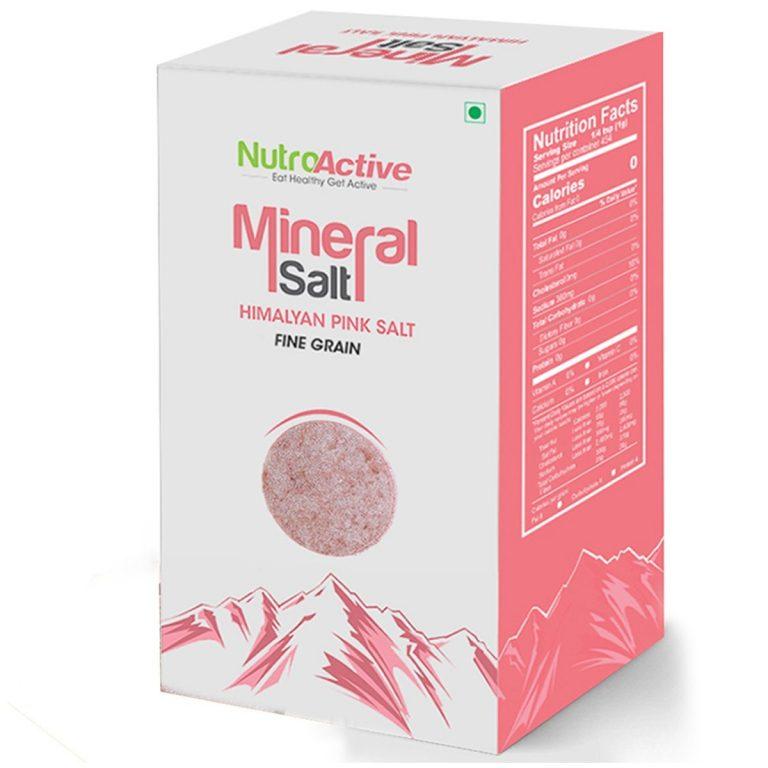 Amazon India : NutroActive Mineral Salt (HIMALAYAN PINK SALT) 450 gm at Rs.179