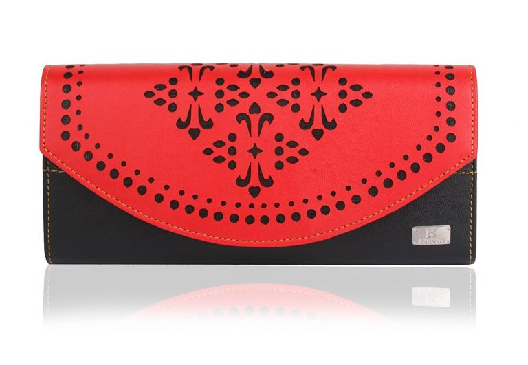 Amazon India : K London Red And Black Women's Wallet at Rs.499