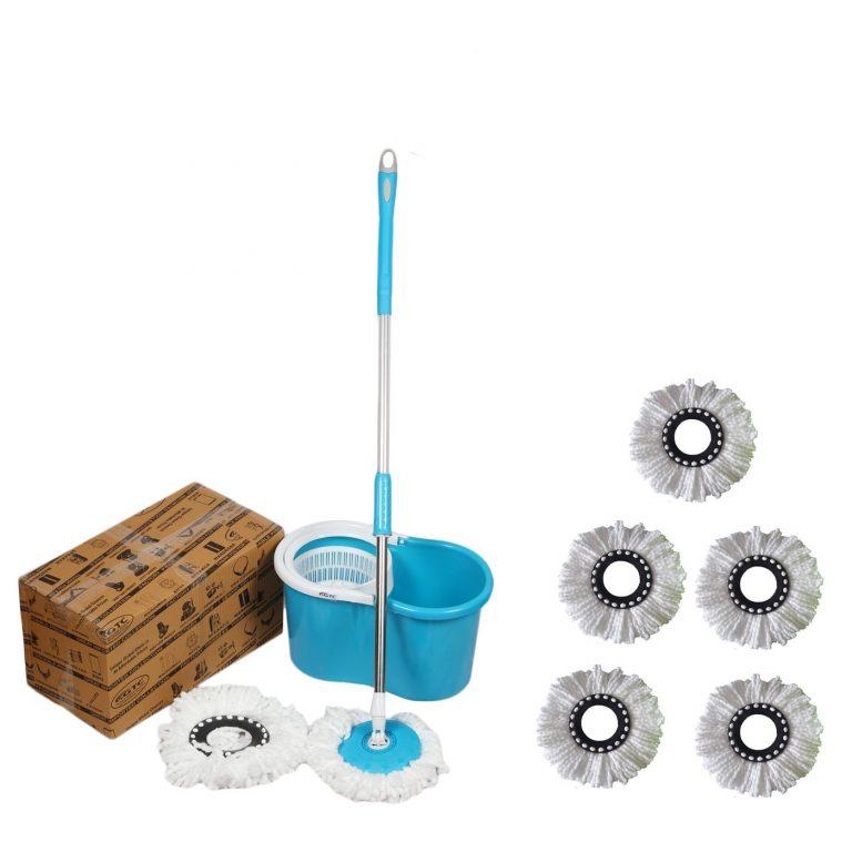 Amazon India : John Richard Quick Clean 360° Easy Magic Spin Plastic Bucket Mop (Random Color) at Rs.719