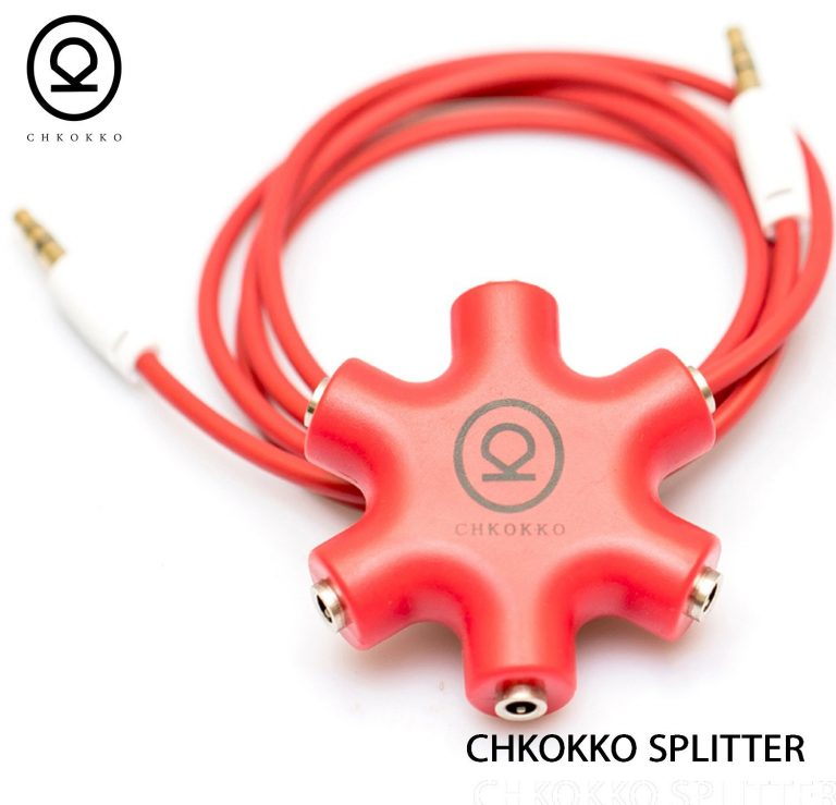 Amazon India : Chkokko 3.5 mm 5 Way Jack Stereo Audio Headphone Splitter (Red) at Rs.299