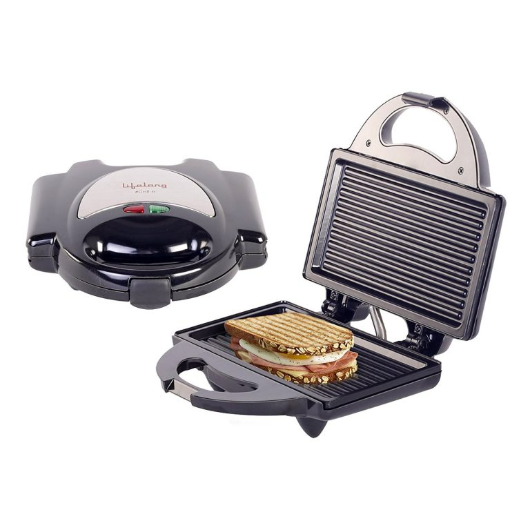 Amazon India : Lifelong LLSM116G 750-Watt 4-Slice, Non Stick Grill Sandwich Maker (Black) at Rs.699