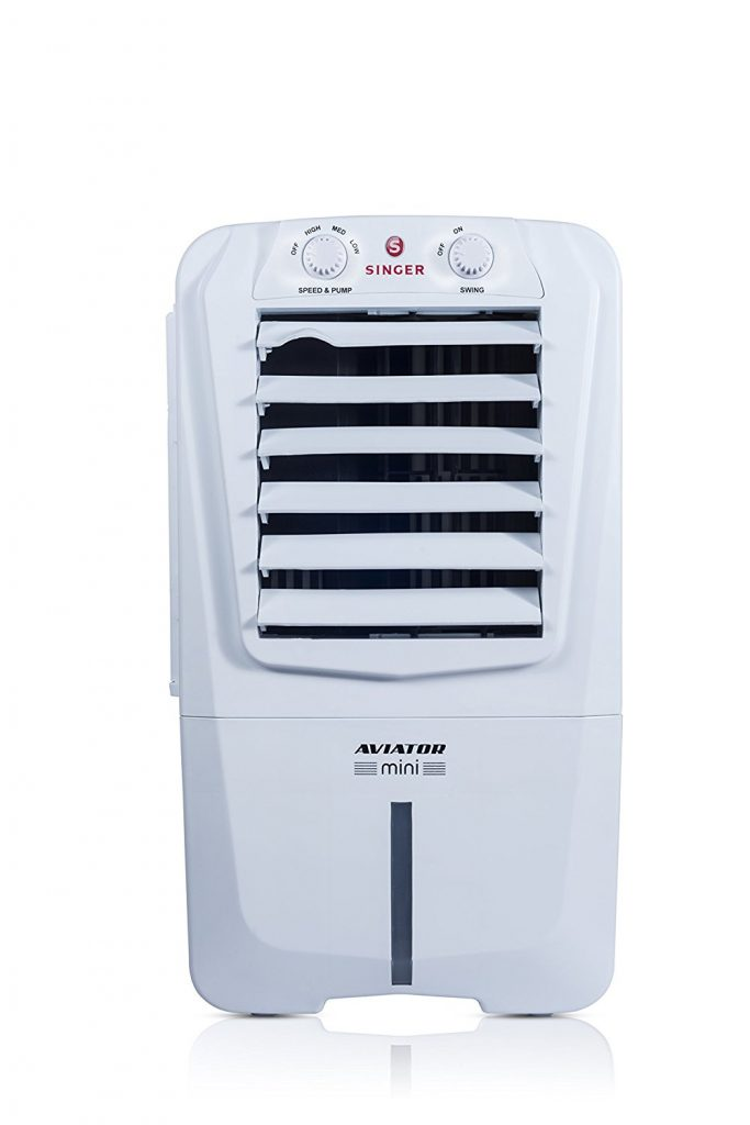 Amazon India : Singer Aviator Mini 10-Litre Personal Room Cooler (White) at Rs.2999