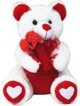 Flipkart : Amardeep Valentine Teddy - 40 cm  (White) at Rs.550