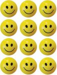 Flipkart : Bgroovy Smiley Face Squeeze Stress Ball - Set of 12 - 3 inch  (Yellow) at Rs.249