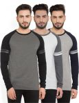 Flipkart : Billion PerfectFit Solid Men Round Neck Grey, White T-Shirt  (Pack of 3)#OnlyOnFlipkart at RS.600