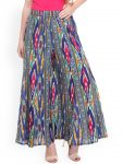 Myntra : Varanga Women Blue Printed Regular Fit Palazzo Trousers at Rs.799