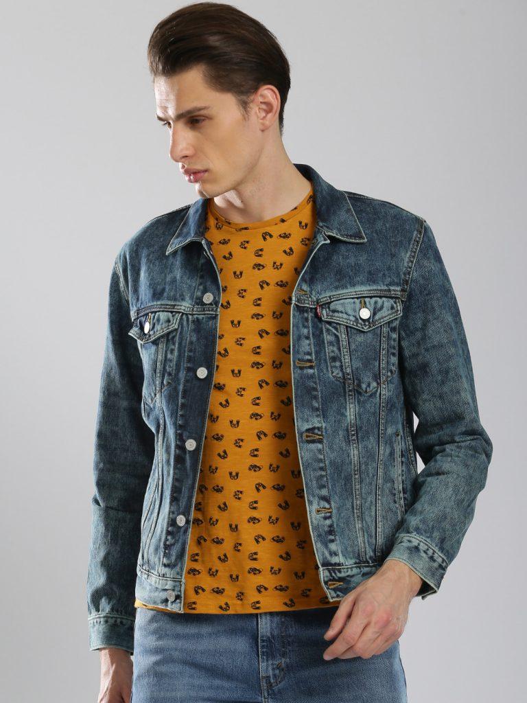 Myntra : Levis Men Blue Solid Denim Jacket at Rs.4599