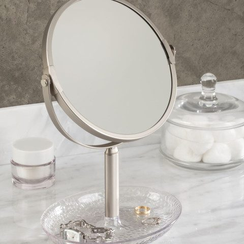 Myntra : InterDesign Silver-Toned Round Bathroom Mirror at Rs.1599