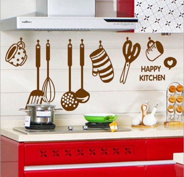 Amazon India : Decals Design 'Stylish Kitchen' Wall Sticker (PVC Vinyl, 60 cm x 45 cm, Brown) at Rs.109