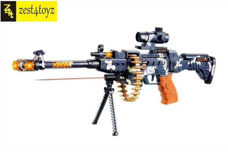 """Amazon India : Zest 4 Toyz 25"""" Musical Army Style Toy Gun at Rs.459.08"""