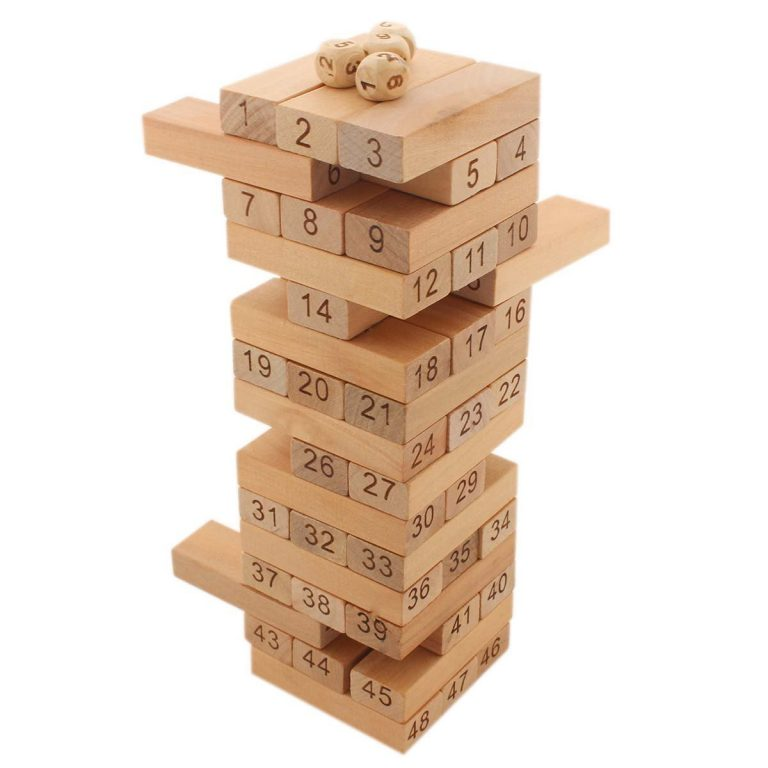 Amazon India : Tumbling Tower 48 Wooden Building Block Party Games (24 cm Tall) (1c475) at Rs.394