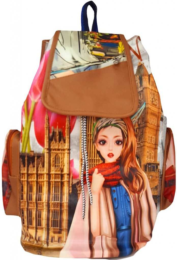 Amazon India : Typify Printed Casual Backpack Girls & Women's Bag at Rs.399