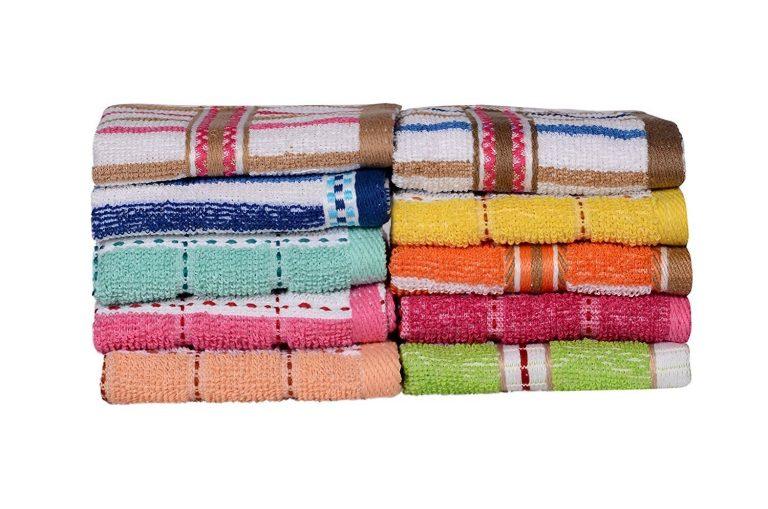 Amazon India : Casa Copenhagen-Basics Set Of 10 Pcs Terry Wash Cloth Napkins at Rs.199