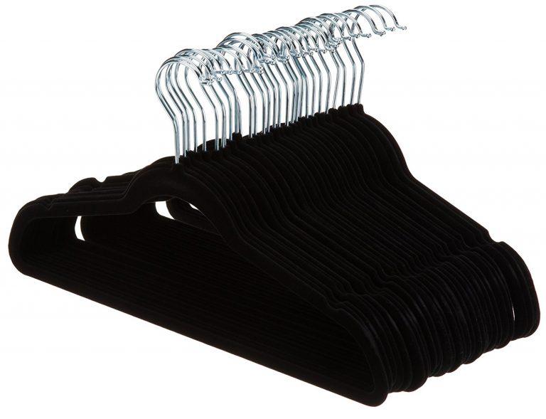 Amazon India : AmazonBasics Velvet Suit Hangers - Black (Set of 30) at Rs.599