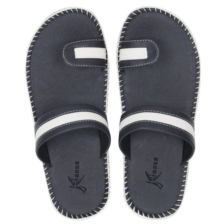 Amazon India : Kraasa Men's Leather Slippers at Rs.339