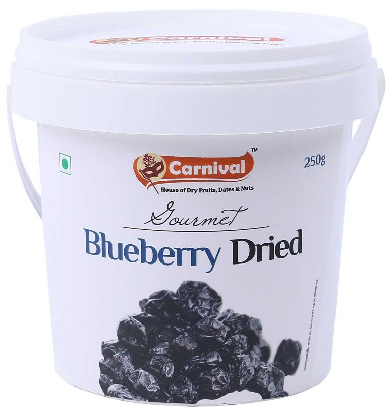 Amazon India : Carnival Blueberries Dried, 250g at Rs.590