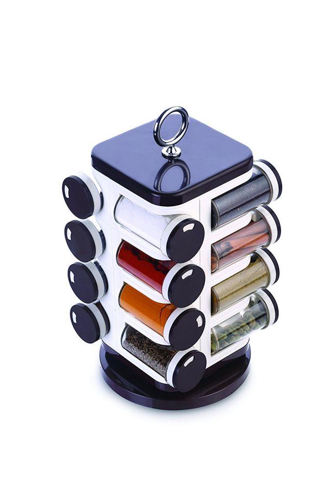 Amazon India : Ganesh 16-Jar Revolving Spice Rack Masala Box - Brown at Rs.599