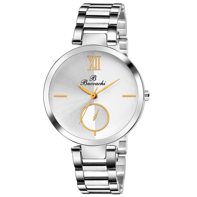 Amazon India : Buccachi Analouge White Dial Watch at Rs.329