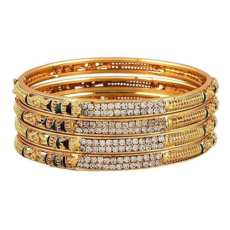 Amazon India : YouBella Precious Gold Plated Jewellery Bangles at Rs.205