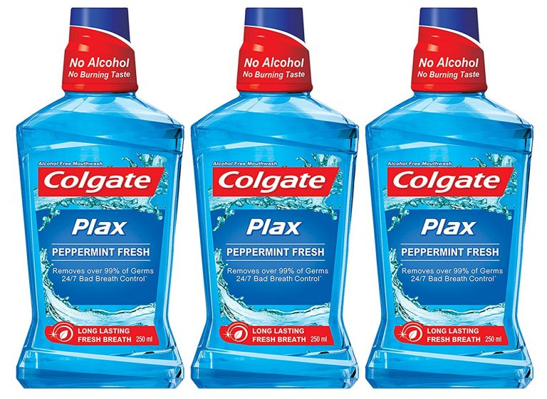 Amazon India : Colgate Plax Mouthwash - 250 ml (Pepper Mint, Buy 2 Get 1 Free) at Rs.206