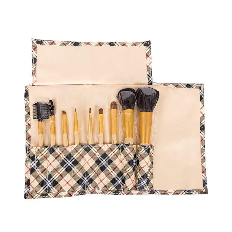 Amazon India : Puna Store 9 Piece Makeup Brush Set (Beige) at Rs.325