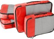 Amazon India : AmazonBasics Packing Cubes/Travel Pouch/Travel Organizer - 2 Medium and 2 Large, Red (4-Piece Set) at Rs.1187