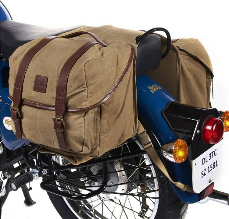 Flipkart : Royal Enfield Double-side Beige Fabric Motorbike Saddlebag  (30 L) at Rs.7500