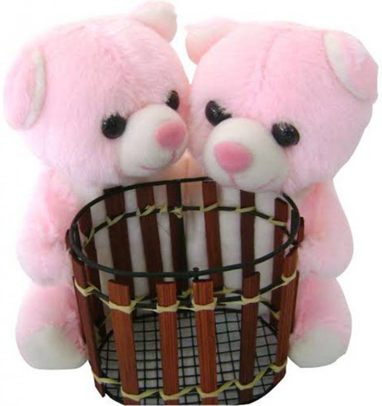 Flipkart : Saugat Traders Teddy Couple With Pen Stand - 6.3 inch  (Pink) at Rs.350