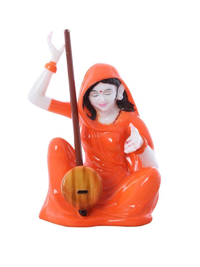 Myntra : eCraftIndia Orange Meerabai Showpiece at Rs.764