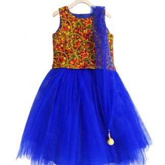 Myntra : A.T.U.N. All Things Uber Nice Girls Blue Embroidered Lehenga Choli with Dupatta at Rs.1049