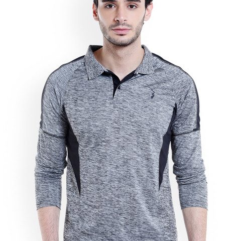 Myntra : Campus Sutra Men Grey Solid Polo T-shirt at Rs.549