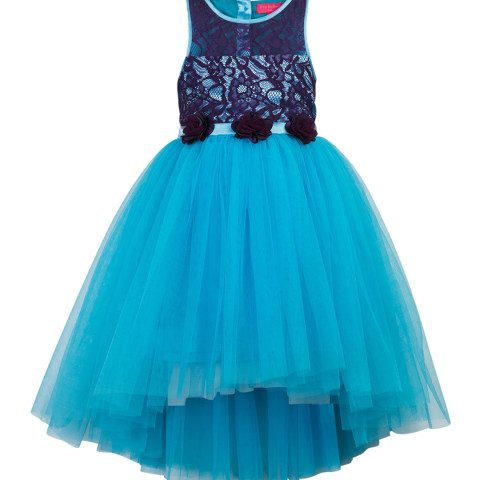 Myntra : Toy Balloon kids Girls Turquoise Blue Self Design A-Line Dress at Rs.999