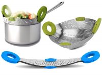 Amazon India : Planet Stainless Steel 5In1 Collapsible Colander Steamer,Strainer & Fruit Basket at Rs.345