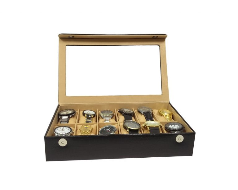 Amazon India : Essart Synthetic PU Leather Organiser Box for 12 Watches (Black) at Rs.1099