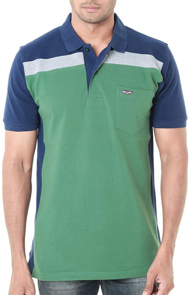 Amazon India : WEXFORD Men's Cotton Polo Neck Half Sleeve Casual T-Shirt at Rs.494