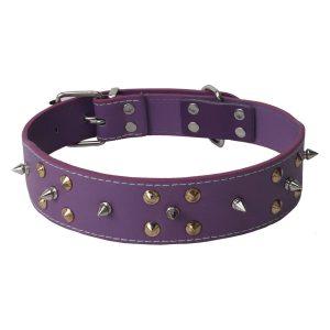 Amazon India : SRI Durable Adjustable Dog Collar with Metal Triangular Spike Studs (Purple) at Rs.199