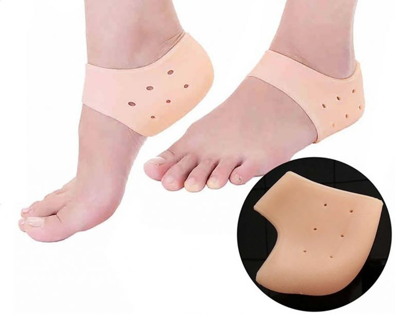 Amazon India : Purastep Silicone Gel Heel Pad Socks For Heel Swelling Pain Relief (Free Size) (1 Pair) at Rs.199