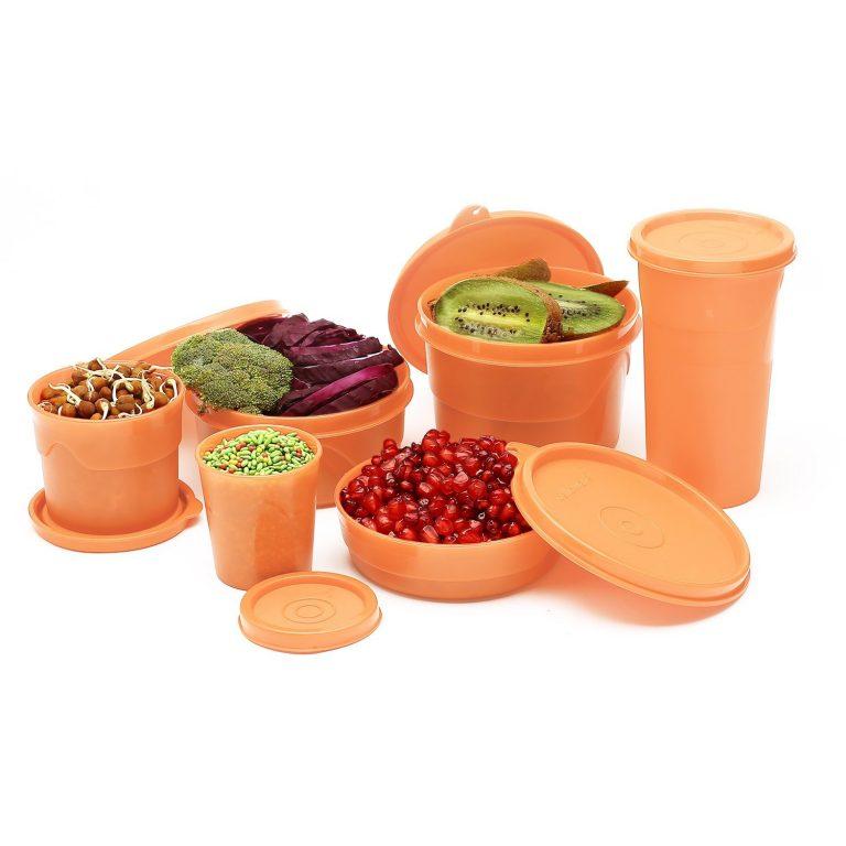 Amazon India : Cello Max Fresh Club Polypropylene Container Set, 6-Pieces, Peach at Rs.379