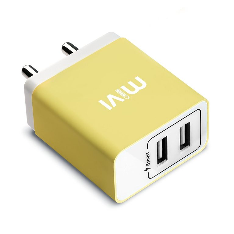 Amazon India : Mivi 3.1A Dual Port Smart Wall Charge Adapter(Yellow) at Rs.699