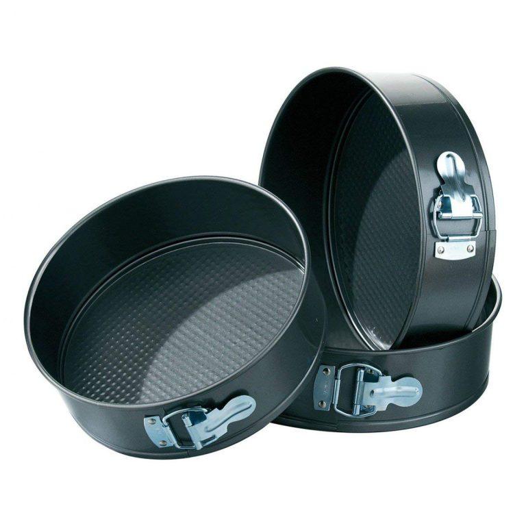Amazon India : Okayji Teflon Coated  Springform Cake Mould Pan Set, 3-Pieces, Black at Rs.450