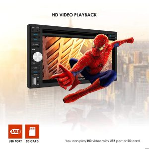 Amazon India : Woodman Doubledin WM-8080 with FM/Bluetooth/USB/DVD Car Stereo (Double Din) with 2 Pair (4 Speakers) of WM-1652 6 inch Woodman Car Speakers at Rs.7499