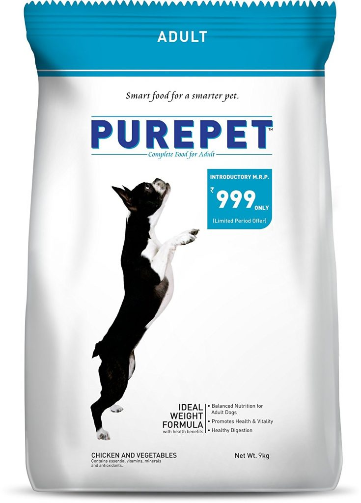 Amazon India : Purepet Chicken and Vegetables Adult Dog Food, 9 kg at Rs.999