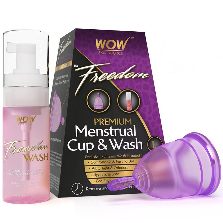 Amazon India : WOW Freedom Reusable Menstrual Cup and Wash Post Childbirth - Large (Above 30 Years) at Rs.599