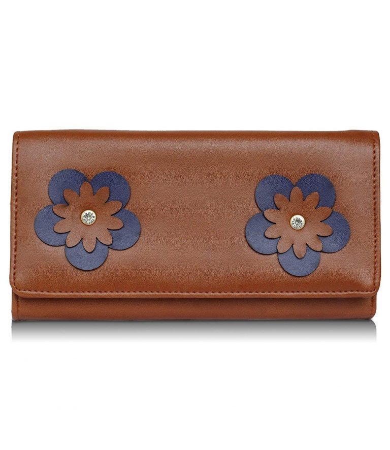 Amazon India : Fantosy tan flower walllet (tan) at Rs.479