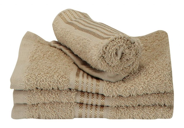 Amazon India: Bianca D`Ross Bordered 4 Piece 380 GSM Cotton Face Towel Set - Taupe at Rs.149