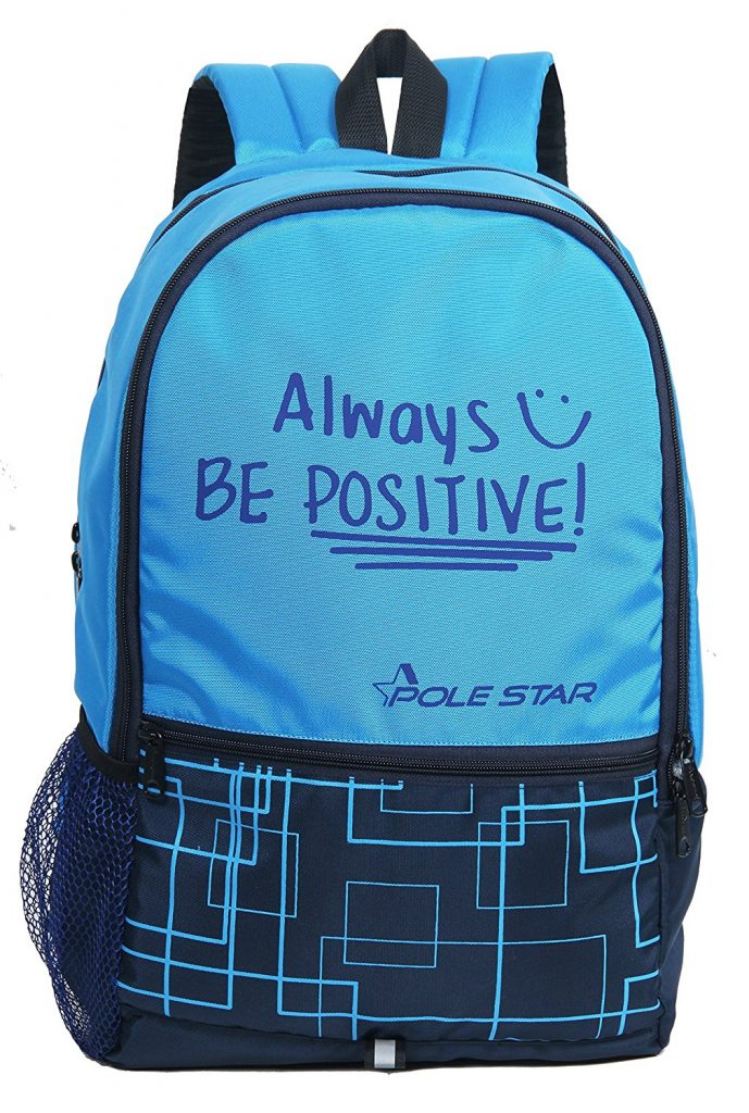 """Amazon India : POLE STAR """"HERO"""" 32 Lt Sky & Navy Casual Backpack I bagpack at Rs.446"""