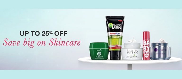 Amazon India : Skin Care Products upto 25% OFF
